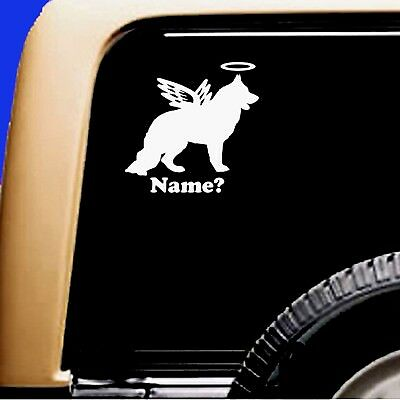 Dog Memorial German Shepherd Long Hair Angel  Decal Sticker RV Truck Shiloh