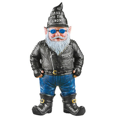 Bad To The Gnome Biker Garden Gnome, By Collections Etc