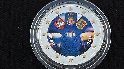 2 euro 2018 Estonia color farbe couleur Baltici Estonie Estland Eesti Эстония