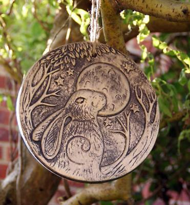 Moon Gazing Hare Wall Hanging Plaque- Gold/bronze Finish - Lisa Parker  Wp_37923