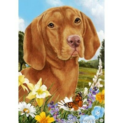 Garden Indoor/Outdoor Summer Flag - Vizsla 180521