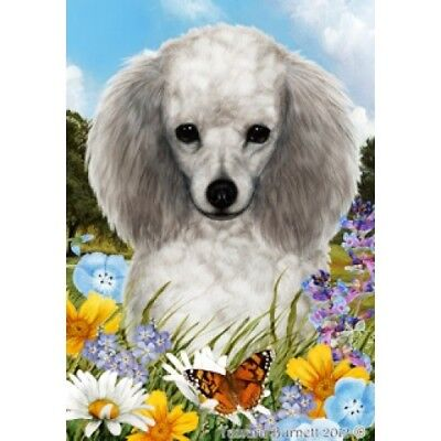 Garden Indoor/Outdoor Summer Flag - Silver Poodle 181891