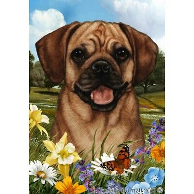 Garden Indoor/Outdoor Summer Flag - Fawn Puggle 181231