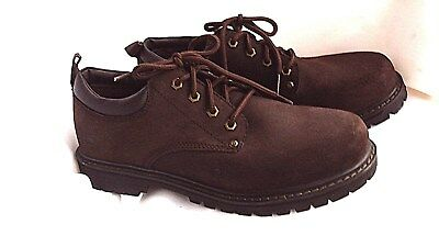Men's SKETCHERS Work Shoes/Boots--Outdoor Hiking--Brown Leather--Size 10.5--NEW