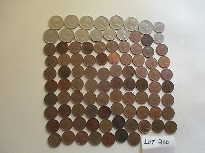Large Canadian Mixed Lot Of Coins. 94 Coins.