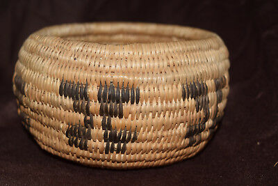 Small Apache Indian Basket Bowl Native American Southwest Butterfly Willow Rod