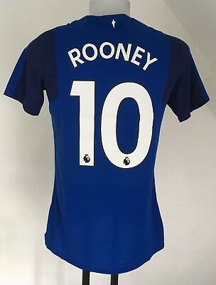 Everton 2017/18 S/S Home Shirt Rooney 10 By Umbro Size Small No Sleeve Badges