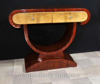 Art Deco Dressing Console Table Walnut 1920s Furniture