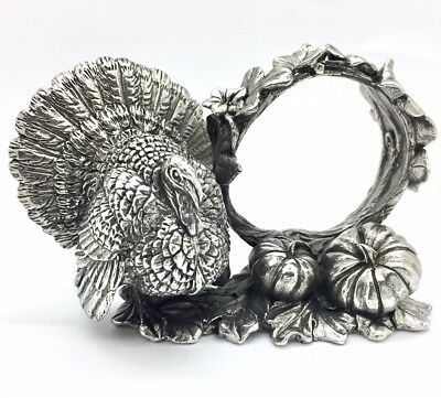 Reed & Barton 1824 COLLECTION SILVERPLATE TURKEY Napkin Ring NR!!!!