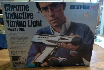 Actron Chrome Inductive Timing Light Model L-204: Vintage: In Original Box