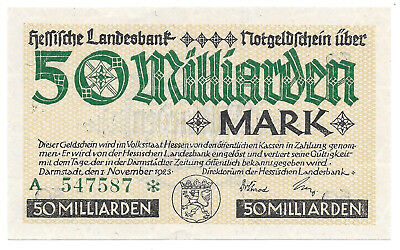Hessen - Hessische Landesbank - 50 Milliarden Mark - 1.11.1923