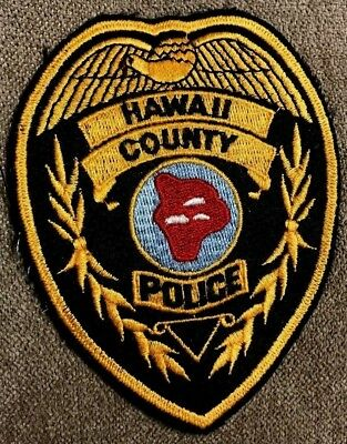 "vintage ""HAWAII COUNTY POLICE"" PATCH hi LAW ENFORCEMENT OFFICER state of RARE"