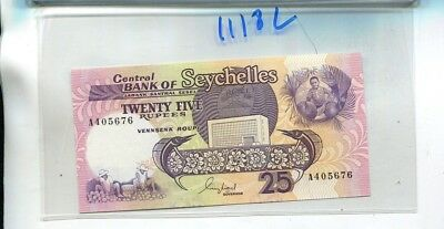 Seychelles 1989 25 Rupees Currency Note Cu 1118L