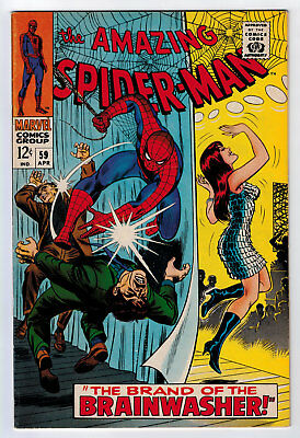 Amazing Spider-Man #59 8.0 High Grade 1St Mary Jane Cover 1968 Ow/w Pages