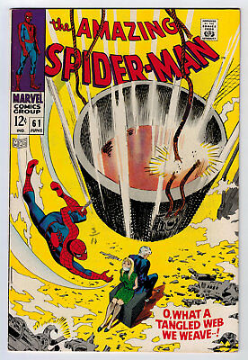 Amazing Spider-Man #61 7.5 Higher Grade 1St Gwen Stacy Cover 1968 Ow/w Pages