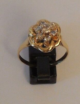 BAGUE OR 18 CARATS ZIRCONIUM (ref2198)