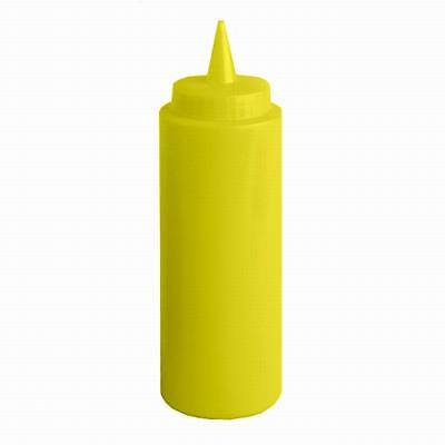 6 Pieces Squeeze Bottle Bottles 12 OZ Yellow 12oz Plastic No Tip Caps NEW