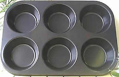 "1 PC WINCO 6 Large Cup Size 3-1/2"" Non Stick Cake Muffin Baking Pan AMF-6NS AMF"
