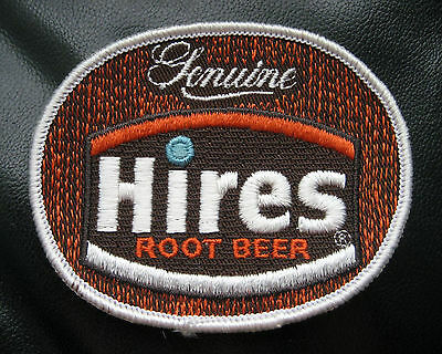 """HIRES ROOT BEER EMBROIDERED SEW ON PATCH ADVERTISING BEVERAGE SODA 3 1/2"""" x 3"""""""