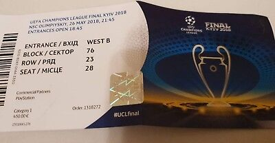 Sammler Ticket CL Finale 2018 Real Madrid - FC Liverpool