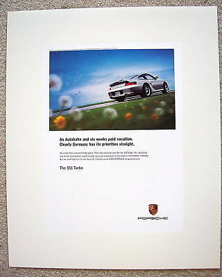 Porsche Official 911 996 Turbo Official Showroom Poster 2003 Usa Edition
