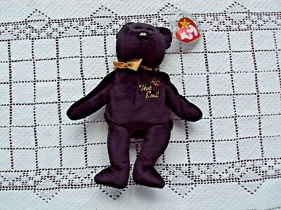 Ty Beanie Baby The End Swing Tag Has Plastic Cover Tush Tag Is Flat Has Hologram