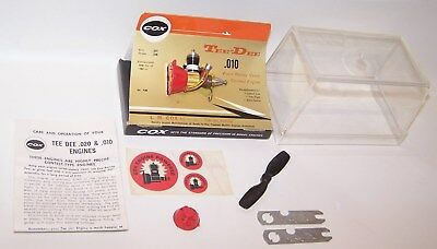 Early New In Box Cox Tee Dee .010 C/L-F/F Competition Model Airplane Engine