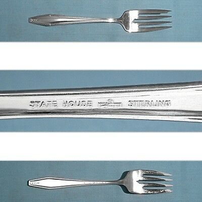 s STATELY State House Sterling Silver Dinner Fork 7 58 Long No Mono HST