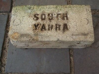 White collectable fire brick SOUTH YARRA 1940's