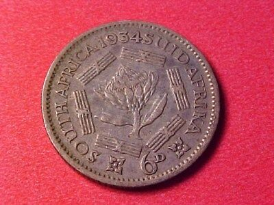 South Africa 6 Pence Silver 1934 George V