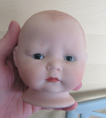 Tynie Baby Repro of 1924 Horsman doll Bisque HEAD PAINTED BLUE EYES W HANDS