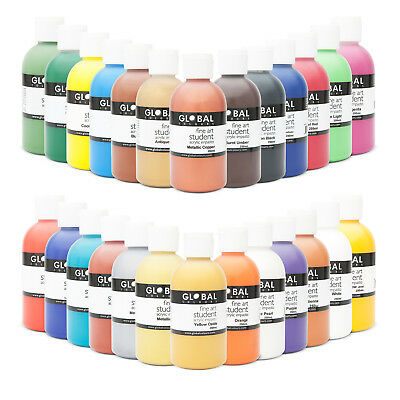 Acrylic Art & Craft Paint Set 12 x 250mL 26 Colours to select from