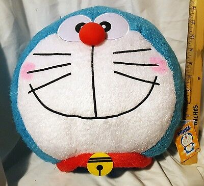 New Shopro Doraemon Round Face Jumbo Cushion Plush! Japan! Us Seller! Free Ship!