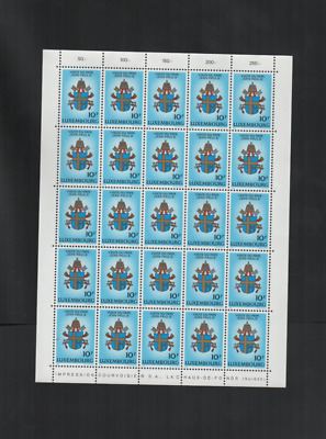 1990   Luxembourg MNH   pope visit to Luxembourg very rare sheetlet