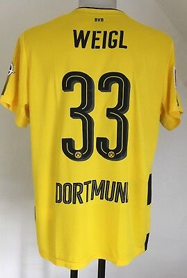 Borussia Dortmund 2017/18 S/s Home Shirt Weigl 33 By Puma Size Adults Xl New