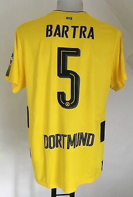 Borussia Dortmund 2017/18 S/s Home Shirt Bartra 5 By Puma Size Adults Xl New