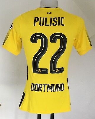 Borussia Dortmund 17/18 S/s Boxed Authentic Home Shirt Pulisic 22 By Puma Medium