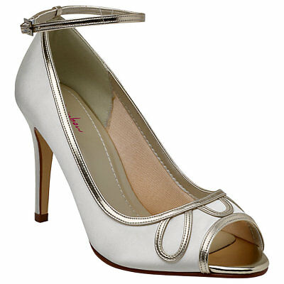 Rainbow Club Pearle Peep Toe Bridal Shoes Wedding Size 4 Mother of the Bride