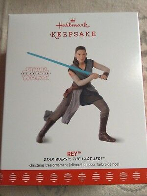 NIB Hallmark Keepsake Star Wars The Last Jedi Rey Ornament 2017 QXI3244