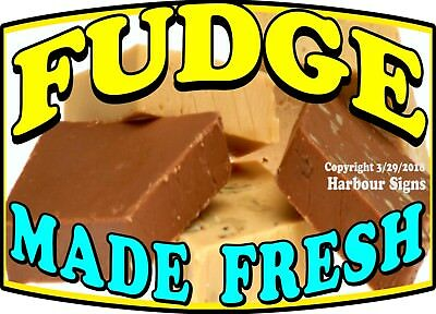 (Choose Your Size) Fudge Made Fresh DECAL Food Truck Concession Vinyl Sticker
