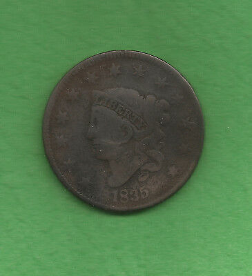 1835 Matron Head Large Cent, Large '8' - 183 Years Old!!!