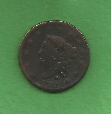 1834 Matron Head, Large Cent, Small '8' - 184 Years Old!!!