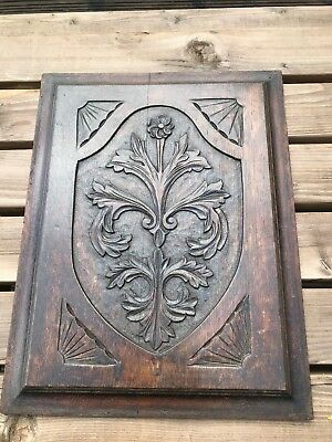 victorian carved panel from a piece of furniture ! nice decoration