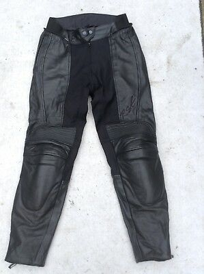 Ladies Rst Leather And Textile Motorcycle Trousers Size Uk 12 Excellent