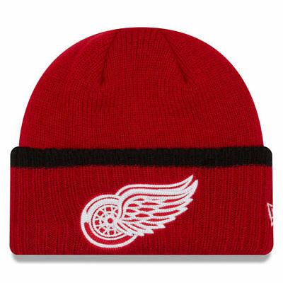 677ecd4272a Detroit Red Wings New Era Ribbed Up Team Cuffed Knit Hat Knit Beanie - Red
