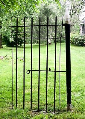 Victorian Wrought Iron Gate Entry Door Antique 19th Century Hand Forged LARGE
