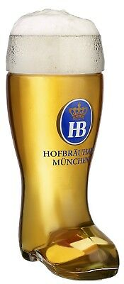 Hofbrauhaus Munchen German Glass Beer Boot .5 L Munich Germany Oktoberfest