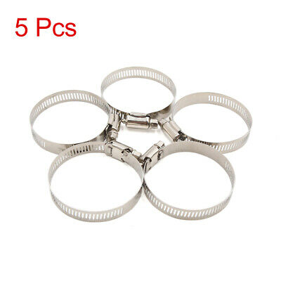 5pcs 40-64mm Adjustable Stainless Steel Car Worm Fuel Hose Pipe Clamp Clips
