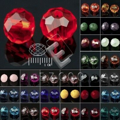 72/100/150pcs Crystal Beads Czech Rondelle Loose Faceted Jewelry DIY 4/6/8mm YB