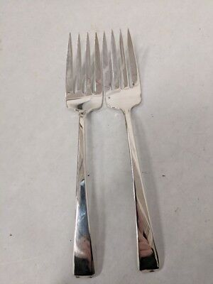 Vintage Lot Of 2 Towle Sterling Silver Craftsman 1932 Individual Fish Fork 78 Gr